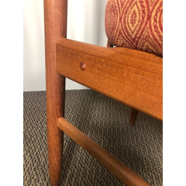 Set of 8 Mid Century Modern Danish Teak Dining Chairs by Benny Linden Slat Back For Sale In Atlanta - Image 6 of 13