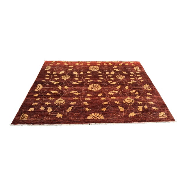 "Brand New Very Soft Turkish Oushak Rug - 5'5"" x 6' - Image 1 of 11"