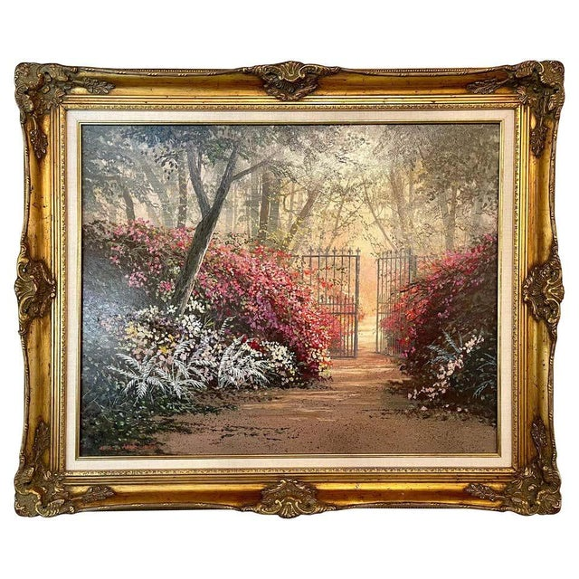 Juan Archuleta Gates and Garden Painting For Sale - Image 13 of 13