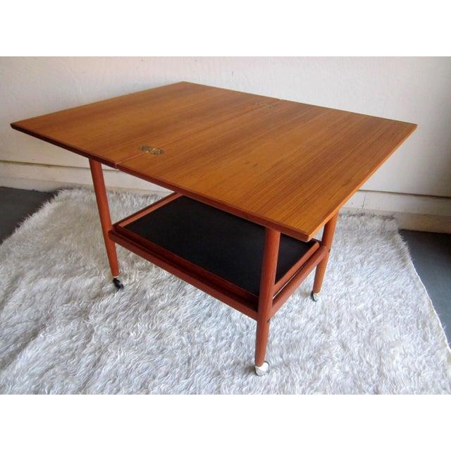 Danish Modern Mid-Century Bar Cart Table - Image 2 of 8