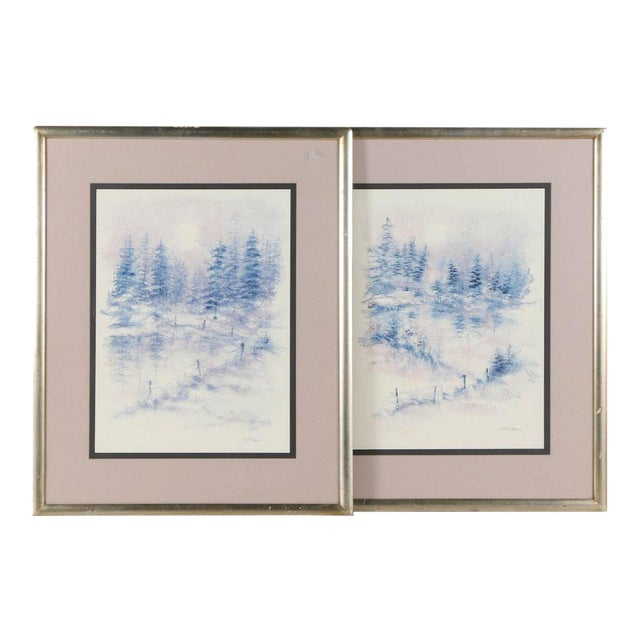 Falciano Landscape Offset Lithographs - A Pair - Image 1 of 11