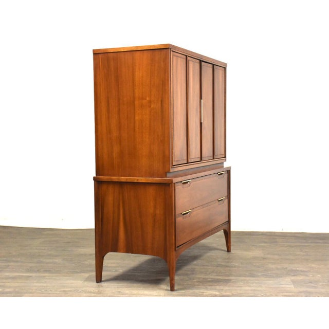 Mid-Century Modern Kent Coffey Impact Tall Walnut Mid Century Dresser For Sale - Image 3 of 11