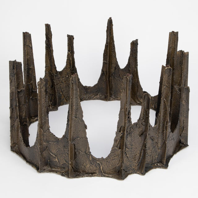 Metal Paul Evans Sculpted Bronze Stalagmite Coffee Table, 1969 For Sale - Image 7 of 13