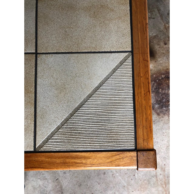 1970s Vintage Mid-Century Danish Modern Tile Top Coffee Table by Gangso Mobler For Sale - Image 5 of 10