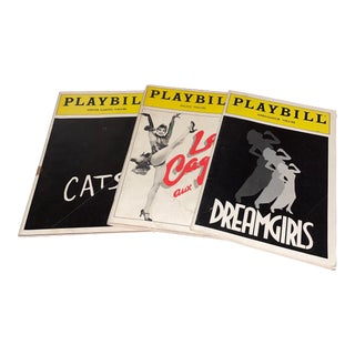 """1980s Vintage """"Cats,"""" """"Dreamgirls"""" and """"La Cage"""" Playbills- Set of Three For Sale"""