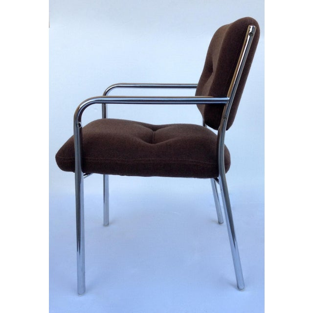 Chromcraft Mid-Century ChromCraft Chrome Arm Chair For Sale - Image 4 of 11