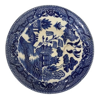 Vintage Blue Willow Porcelain Plate 2 For Sale
