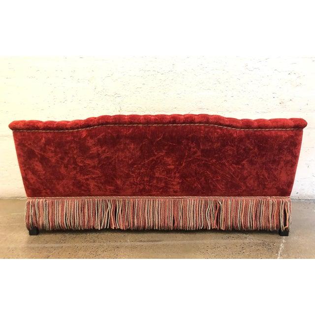 Mediterranean Custom Made Sofa in Vintage Flat Woven Kilim For Sale - Image 3 of 11