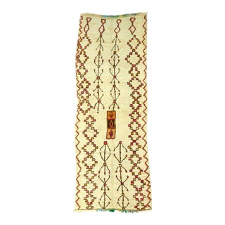 Vintage Moroccan Azilal Runner - 4′8″ × 12′ For Sale