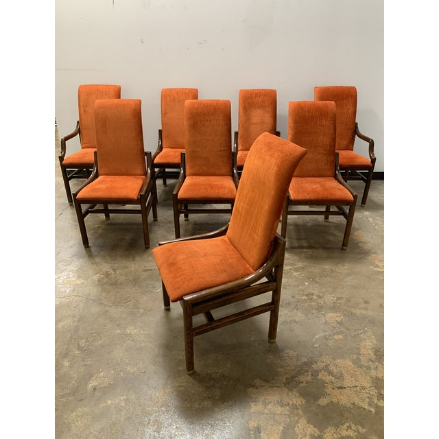 1970s Vintage Henredon Walnut Dining Chairs- Set of 8 For Sale - Image 13 of 13