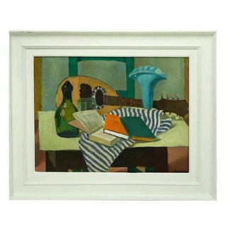 Vintage Mid Century Signed Still Life by Reynolds For Sale