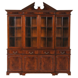 Niagara Furniture Mahogany Four Door Breakfront For Sale