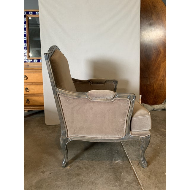 Transitional Style Lucille Club Chair & Ottoman For Sale - Image 4 of 8