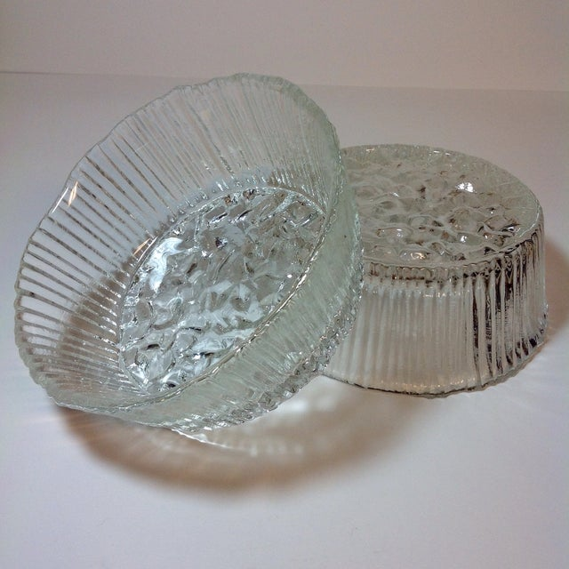 Danish Modern Ice Glass Bowls - A Pair - Image 3 of 5