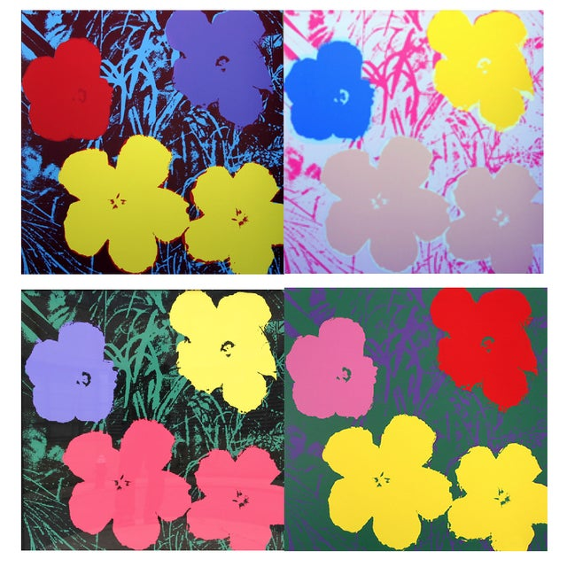 Andy Warhol Sunday B. Morning Flowers Prints - S/4 - Image 1 of 5