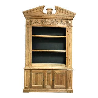 Mid 20th Century Rustic Pine Bookcase For Sale