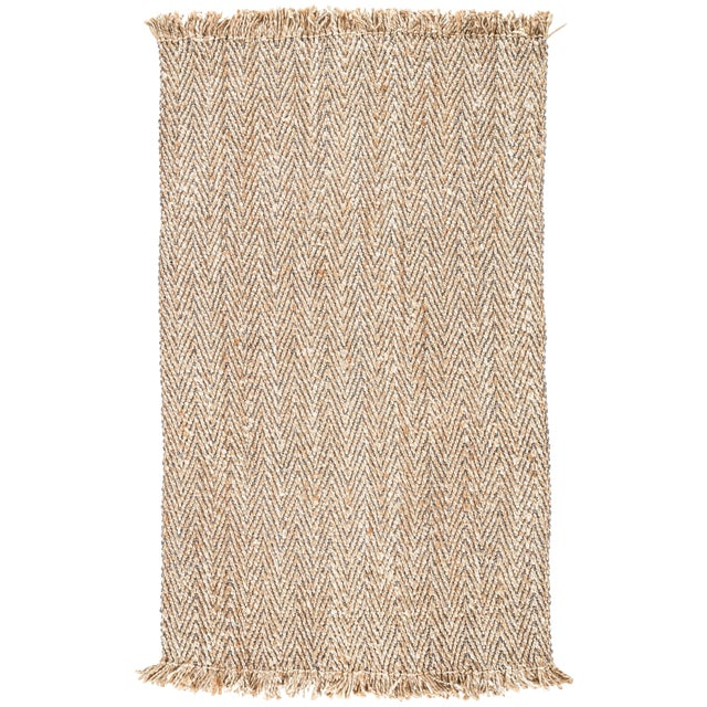 Jaipur Living Hoopes Natural Chevron Beige/ Gray Area Rug - 8′ × 10′ For Sale
