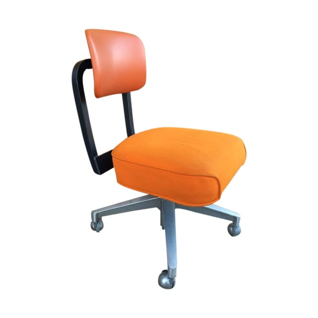 Vintage SteelCase Orange Office Chair - Image 1 of 8