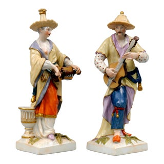 KPM Berlin Porcelain Figurines, Circa 1830 - A Pair For Sale