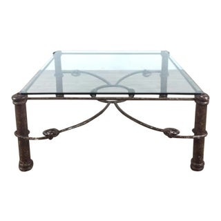 Shabby Chic Glass and Metal Coffee Table