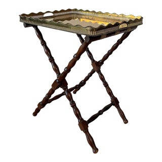 Baroque Revival Table With Removable Brass Tray, France, Circa 1940 For Sale