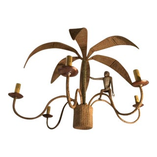 1970s Mario Lopez Torres Monkey Chandelier For Sale