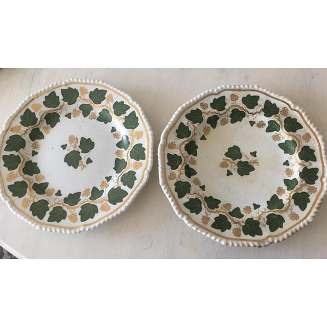 White Early 19th Century Bloor Darby Plates - a Pair For Sale - Image 8 of 8