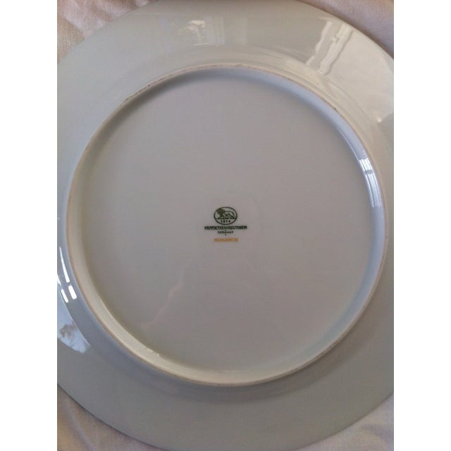 "Hutschenreuther ""Monarch"" China Plates - Set of 4 For Sale - Image 5 of 10"
