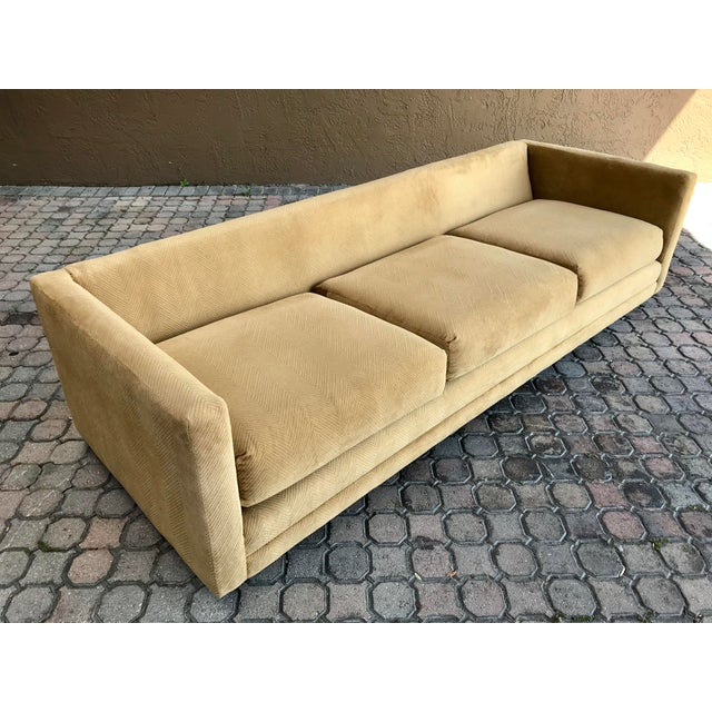 Brown Milo Baughman for International Tuxedo Sofa For Sale - Image 8 of 13