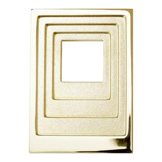 Nest Studio Collection Step-03 Polished Brass No Lacquer Knob For Sale