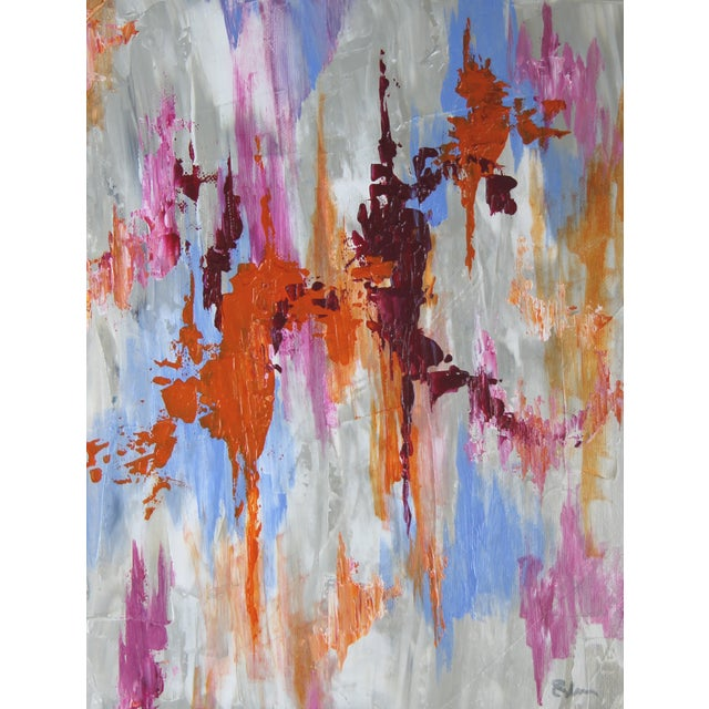 Abstract Textured Painting by C. Plowden - Image 1 of 3