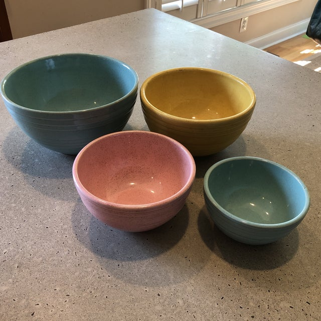 Turquoise 1958 McCoy Pottery Nesting Mixing Bowls - Set of 4 For Sale - Image 8 of 8