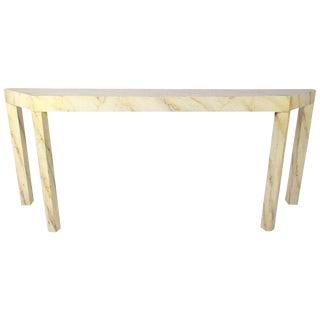 Vintage Modern Sofa Table After Karl Springer For Sale