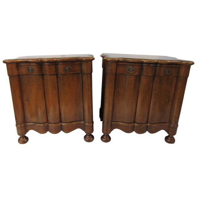 Italian Style Wood End Tables - A Pair - Image 1 of 7