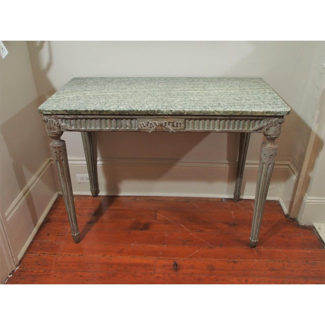 French Louis XVI Console Table For Sale - Image 3 of 10