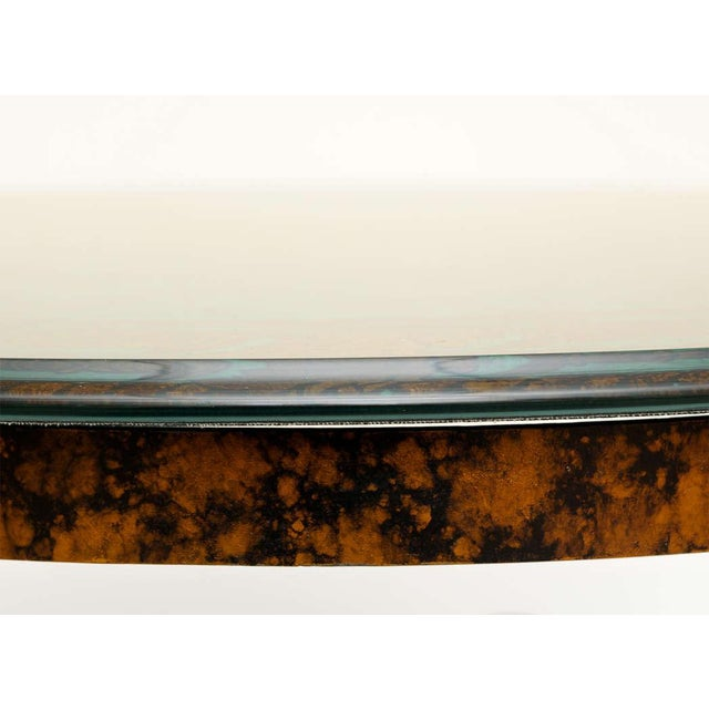 Brass Fornasetti Style Glass & Metal Cocktail Table For Sale - Image 7 of 11