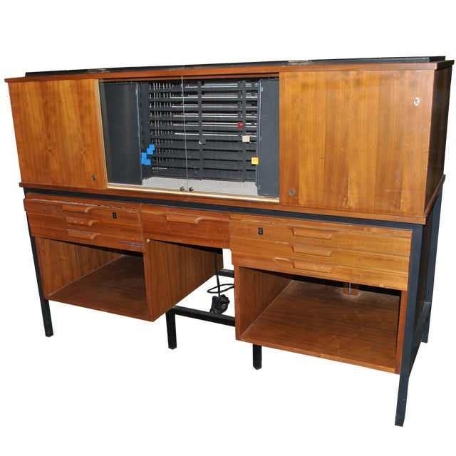 George Nelson Style Photography Slide Cabinet Elden Enterprises For Sale