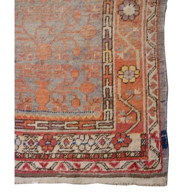 "Asian Early 20th Century Samarkand Rug - 60"" x 116"" For Sale - Image 3 of 5"