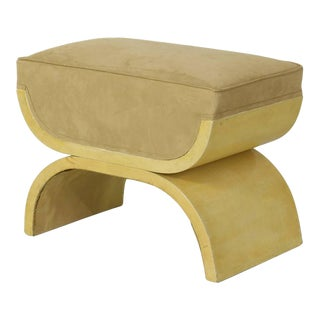 Art Deco Goatskin Stool For Sale