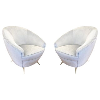 Pair of Round Mid-Century Armchairs by Isa