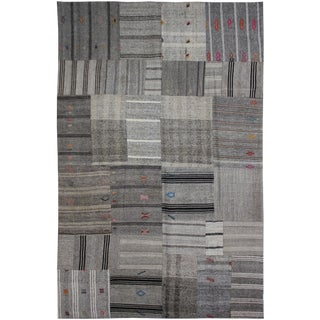 "Aara Rugs Inc. Hand Knotted Patchwork Kilim - 11'9"" X 7'6"" For Sale"