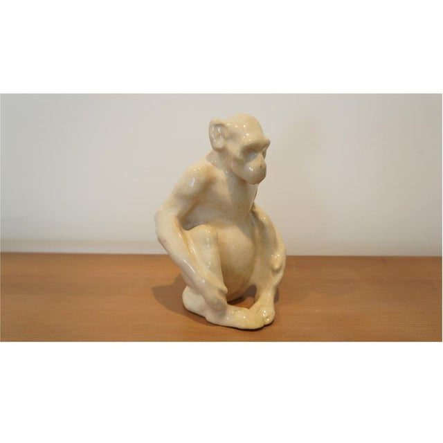 Hauntingly beautiful ceramic monkey attributed to Claude Levy For Primavera.