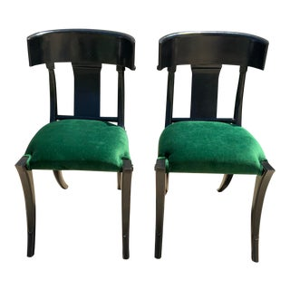 Mid Century Modern Klismos Style Chairs - a Pair For Sale
