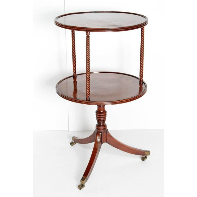 Late 18th Century Late 18th Century George III Tiered Dessert Table of Mahogany For Sale - Image 5 of 12