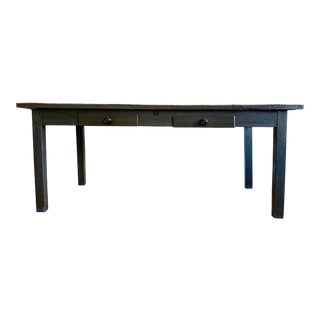 19th Century French Zinc Top Baker's Table For Sale