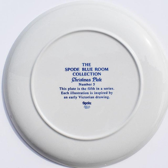 Spode Georgian Blue and White Ceramic Christmas Plates - Set of 4 For Sale - Image 9 of 12