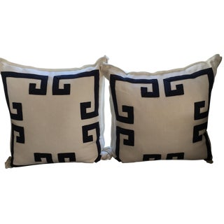 Ryan Studio Greek Key Design Pillows - A Pair
