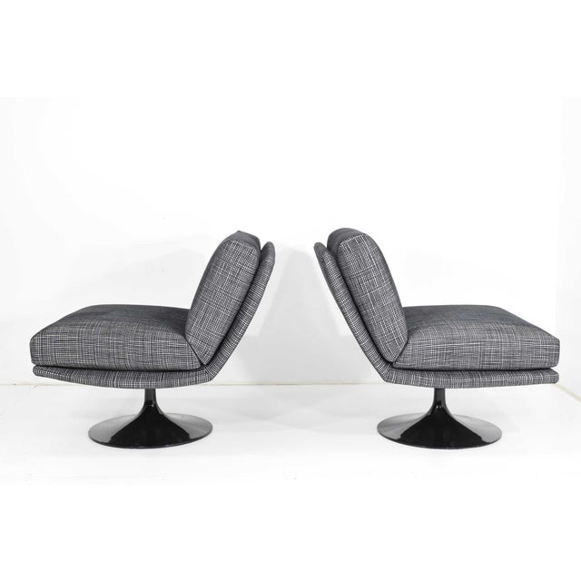 Aluminum Adrian Pearsall for Craft Associates Swivel Chairs For Sale - Image 7 of 10