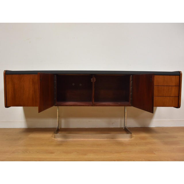 Ste-Marie Rosewood & Chrome Credenza For Sale - Image 4 of 11