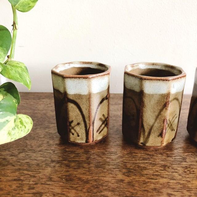 Asian Vintage Asian Ceramic Sake Cups - Set of 4 For Sale - Image 3 of 7